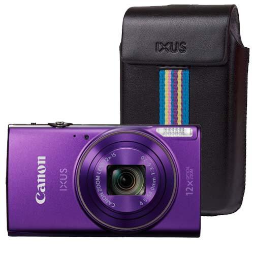 Canon iXUS 285 HS paars + Tas