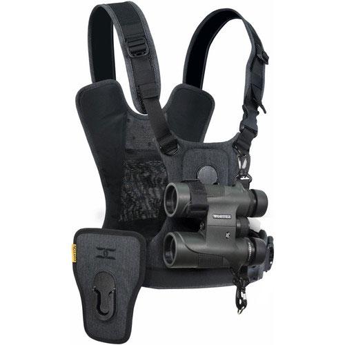Cotton Carrier Camera Harness voor 1 camera + 1 verrekijker