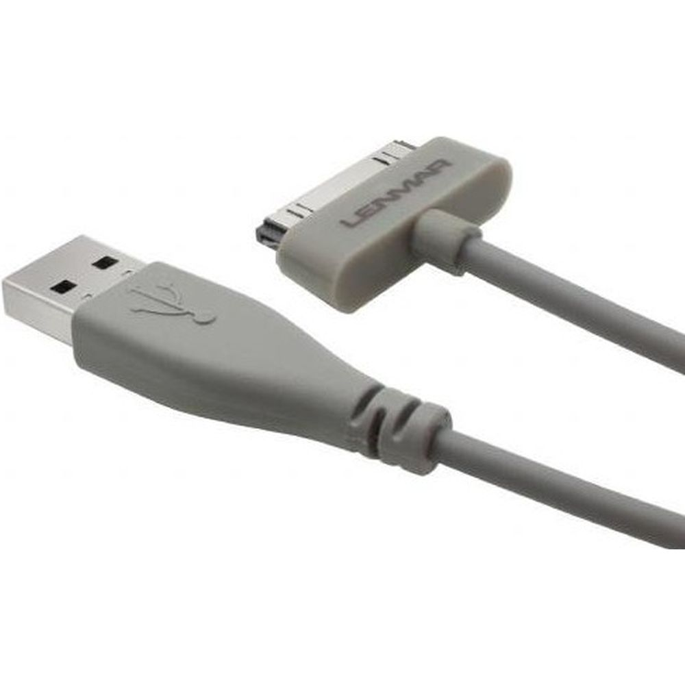 Lenmar Apple 30 Pins Sync Kabel Grijs