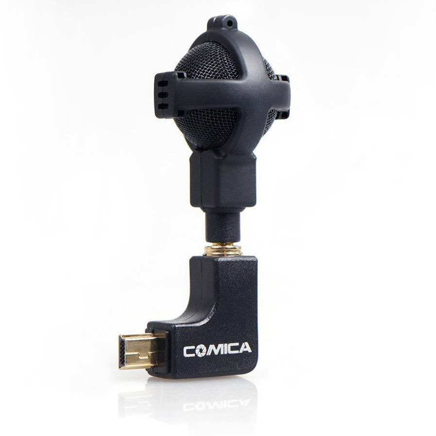 Comica Ball-shaped Interview Microphone voor GoPro HERO 3,3+,4 zwart