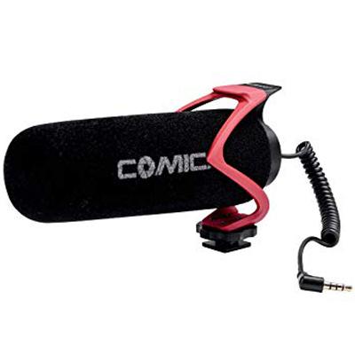 CoMica Super-Cardioid Condenser LITE Video Microfoon Rood