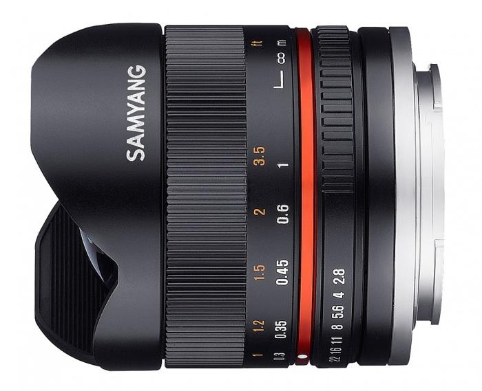 Samyang 8mm F/2.8 Fisheye II Sony E-system zwart